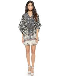 Camilla Short Round Lace Up Caftan - Call Of The Wild - Lyst