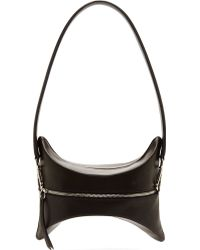Maison Martin Margiela Black Contoured Leather Medium Pouch - Lyst