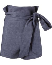 Giuliana Romanno - Belted High Waist Shorts - Lyst