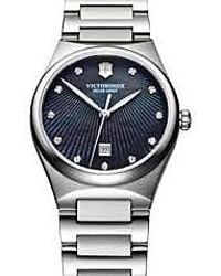 Swiss Army - - Victoria Diamonds, Black Mother Of Pearl Dial With Diamonds, Bracelet - 241536 - Lyst