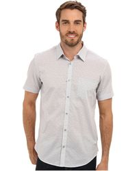 Calvin Klein Yd Medium Shadow Check Plainweave Ss Shirt - Lyst