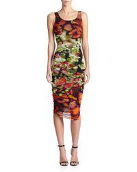 Jean Paul Gaultier Digital-Print Ruched Dress - Lyst
