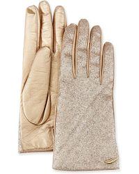 Diane von Furstenberg - Glitterati Leather Gloves - Lyst