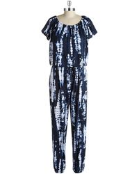 Jones New York Tie-Dyed Jumpsuit - Lyst