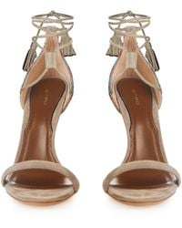 Etro Bead-Embroidered Suede Sandals - Lyst
