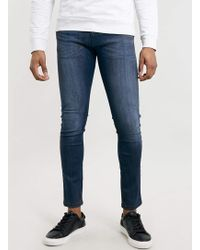 Topman Mid Wash Spray On Jeans - Lyst