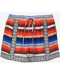 Parker Applique Printed Drawstring Shorts - Lyst