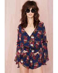 Nasty Gal Bell All Romper - Lyst