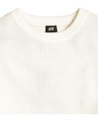 H&M | Waffle-knit Jumper | Lyst