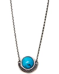 Pamela Love Sunset Pendant in Antique Silver and Turquoise - Lyst