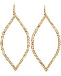 Jamie Wolf | Gold Diamond Open Marquis Leaf Earrings | Lyst