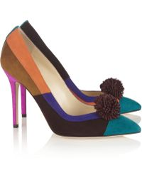 Brian Atwood Bea Colorblock Suede Pumps - Lyst