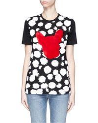 Être Cécile | Cheetah French Bulldog Print T-shirt | Lyst