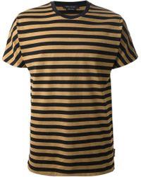 Marc Jacobs Beige Striped Tshirt - Lyst