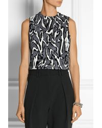 Proenza Schouler Cropped Flocked Jacquard Top - Lyst