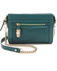 Rebecca Minkoff Mini Crosby Bag Petrol - Lyst