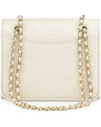 Tory Burch Fleming Quilted-Leather Flap Bag - Lyst