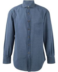 Brunello Cucinelli Blue Denim Shirt - Lyst