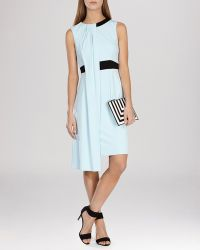 Karen Millen Dress - Draped Jersey blue - Lyst