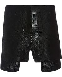 Sally Lapointe | Mesh Leather Short | Lyst