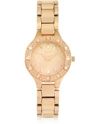DKNY Chambers Rose Golden Stainless Steel with Crystals Womens Watch - Lyst