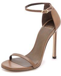 Stuart Weitzman Nudist 110Mm Sandals - Truffle - Lyst