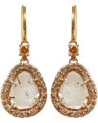 Sharon Khazzam | Brown Diamond Slice Earrings | Lyst