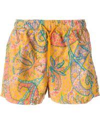 Etro Floral-Print Swim Shorts - Lyst