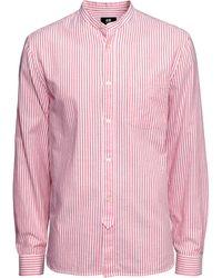 H&M Collarless Shirt - Lyst