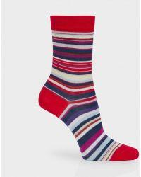 Paul Smith Red Signature Stripe Socks - Lyst