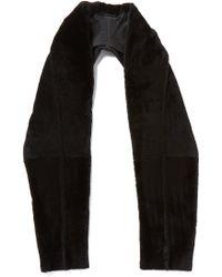 Donna Karan - Shaved Shearling Scarf - Charcoal/black - Lyst