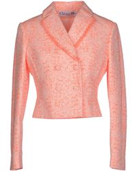 Dior Blazer orange - Lyst