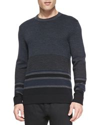 Theory Striped Merinoyak Sweater - Lyst