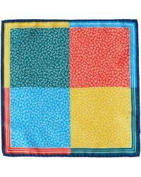 Liberty - Navy Lewin Silk Pocket Square - Lyst