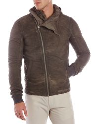 DRKSHDW by Rick Owens Drkshdw By Rick Owens Brown Hooded Jacket - Lyst