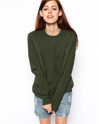 Asos Lambswool Rich Jumper - Lyst