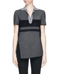 Proenza Schouler Waffle Piqué Knit Polo Shirt - Lyst