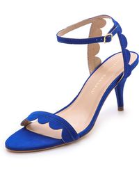 Loeffler Randall Lillit Scalloped Kitten Heel Sandals - Lyst