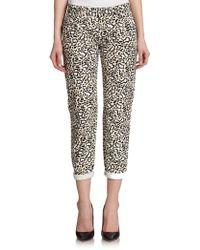 Stella McCartney Animal-Print Skinny Jeans - Lyst