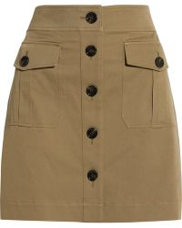 Burberry Brit | Stretch-cotton Twill Mini Skirt | Lyst