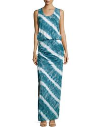 Young Fabulous & Broke Mel Tie-dye Ruched Maxi Dress - Lyst