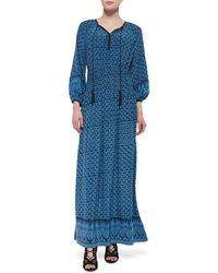 Talitha - Dia Abstract-print Long Dress - Lyst