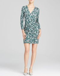 Tory Burch Michele Leaf Print Dress - Lyst