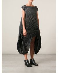 Issey Miyake Structured Pleated Dress - Lyst