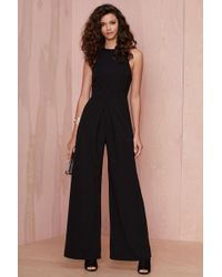 Nasty Gal Long Way Wide-Leg Jumpsuit - Lyst