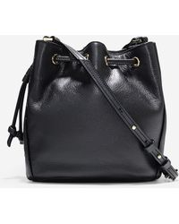 Cole Haan | Felicity Mini Drawstring Leather Bucket Bag | Lyst