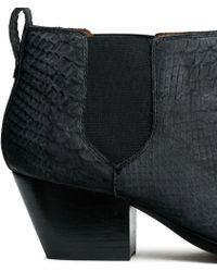 H&M Black Nubuck Boots - Lyst