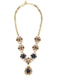 St. John - 'Ornate' Swarovski Crystal Necklace - Lyst