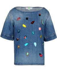 Stella McCartney Stones Embroidery T-shirt - Lyst