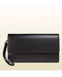 Gucci Microssima Leather Travel Document Case - Lyst